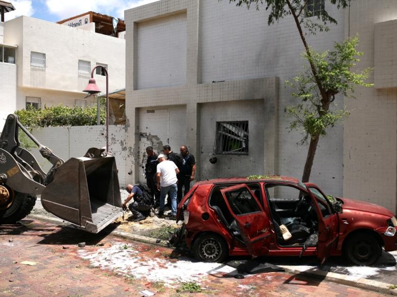 Упала ракета на территорию Израиля