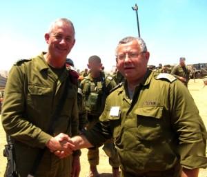 С генералом Бeни Ганц