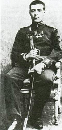 Иосиф Трумпельдор в форме русского офицера